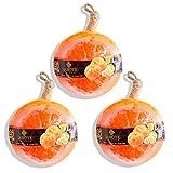LABOTE Handgemachte thailändische Bio Naturseife Orange mit typischem Duft, 3 Stück