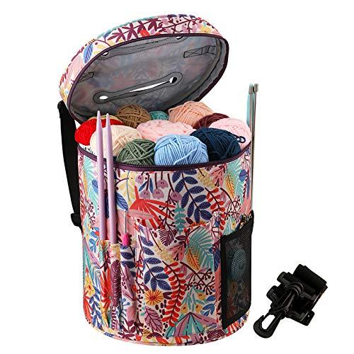 Coopay Bolsa de tejer, bolsa de ganchillo para proyectos de tejer, bolsas...