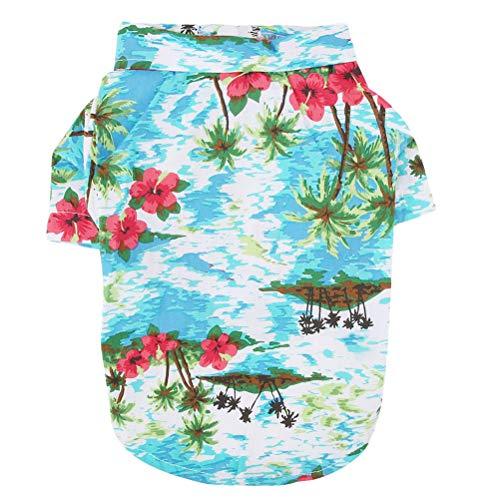 POPETPOP Camisetas para Perros Perrito Ropa de Verano Chaleco Camisas de Estilo Hawaiano para Mascotas Pequeñas y Medianas