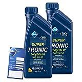 2x 1 L Liter ARAL SuperTronic Longlife III 3 5W-30 Motoröl inkl. Ölwechselanhänger