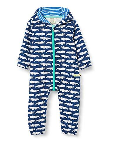 loud + proud Baby-Jungen Outdoor Overall Organic Cotton Strampler, Blau (Ultramarin Ul), (Herstellergröße: 62/68)