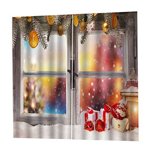 B Blesiya Cortinas Opacas de Impresas Digital Tema Navidad para Sala de Estar - 2 Paneles - C, 200x170cm