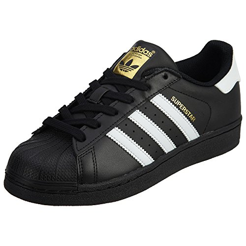 adidas Originals Juniors Superstar Sneaker, Core Black/White/Black, 6.5 Big Kid US
