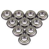 [Regali di Natale]Cuscinetti, 10 pezzi F688ZZ Cuscinetti a sfere a gola profonda con flangia a doppia schermatura in acciaio metallico 8 * 16 * 5mm per motore argento