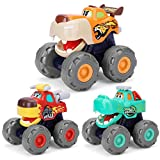 nicknack Monster Trucks Pull Back Car Push and Go Coches de juguete para bebés, niños pequeños, niños de 1 2 3 4 años