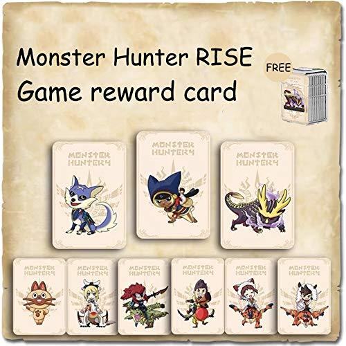 9 PCS NFC Tag Card for Monster Hunter Rise Including: Palamute, Palico, Magnamalo, for Switch Lite Compatible with Switch