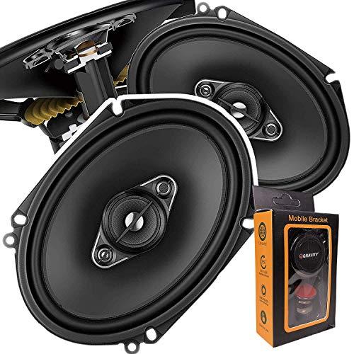 Pair of Pioneer 5x7/ 6x8 Inch 4-Way 350 Watt Car Audio Speakers | TS-A6880F (2 Speakers) + Free Gravity Mobile Bracket Holder