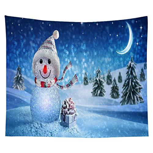 KHKJ Tapiz con Estampado de árbol de Navidad para Colgar en la Pared, decoración de Tela, Tapiz Rojo de Papá Noel, decoración de la Pared de la habitación del hogar, A23 200x180cm