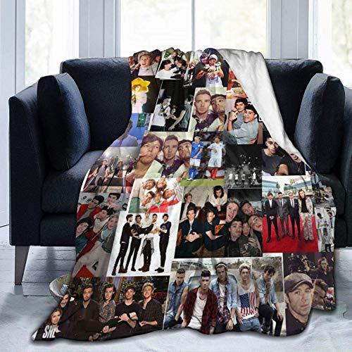 Maichengxuan One Direction Coperta super morbida e leggera coperta in pile per divano letto e divano per tutte le stagioni per adulti e bambini, 150 x 110 cm