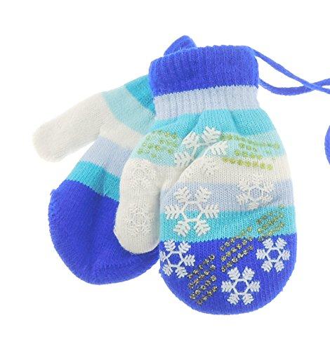 Schattig Super Zachte Baby Meisjes Jongens Warme Winter Wanten 6-24 Maanden Eén maat Royal Blauw