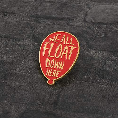 SHAOWU Rote Ballonstifte Pennywise Wir alle schweben Hier unten IT-Filmschmuck Emaille-Stifte Abzeichen Ansteckbrosche