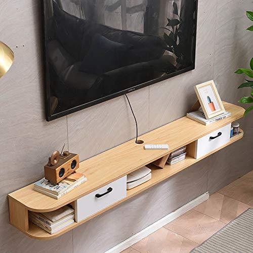 Mobile TV Sospeso,Mobile Porta TV Sospeso Lavagna Ecologica in Legno Massello,Mobile Basso per TV Multifunzionale a Parete Piccolo Soggiorno Camera da Letto/B / 120cm