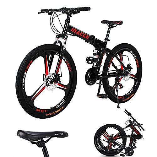 Mountain Bike per Adulti 26 Pollici, Bici Variabile Folding Bike-27 Speed 3 Knife Wheel, Mountain Biciclette Doppio Assorbimento di Scossa Uomo Donne Sistema di Sport Esterni della Bicicletta