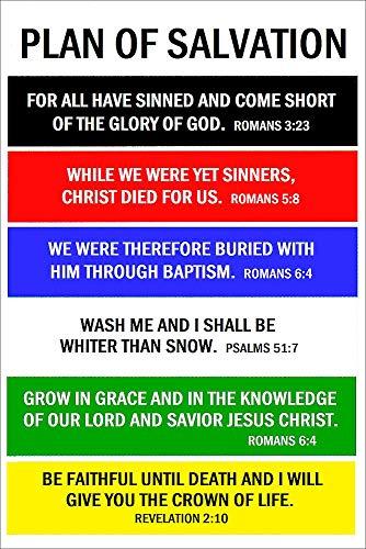SmileyMe Plan of Salvation Gift Cards ~ Pkg of 25 3x2 Wallet Sized Pocket Cards