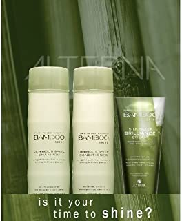 Alterna Bamboo Shine Shampoo 8.5oz, Conditioner 8.5oz and Silk-Sleek Brilliance Cream 4.2oz