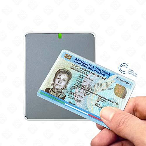 Identiv uTrust 3700F - Lettore per la Carta d identità Elettronica CIE 3.0 e per Carte NFC e RFID, Tag NFC, Mifare, Desfire e Simili