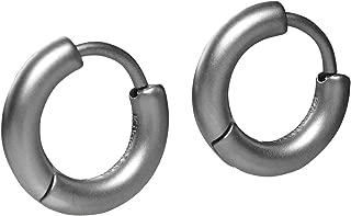 925 argent sterling Huggy Huggies Brillant Boucles d/'oreilles Créoles 2x14mm