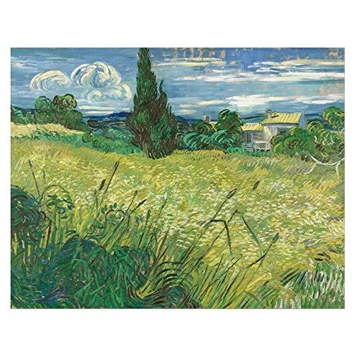 BGFDV Pintor Van Gogh Wildland Forest Paisaje Pintura al óleo sobre Lienzo póster impresión Imagen artística en la Pared para Sala de Estar