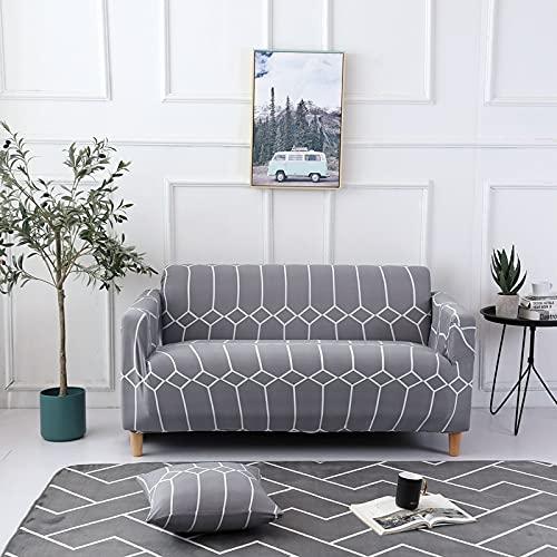WXQY Funda de sofá de Spandex Funda Protectora elástica con Todo Incluido, Esquina en Forma de L Funda de sofá Envuelta herméticamente A1 3 plazas