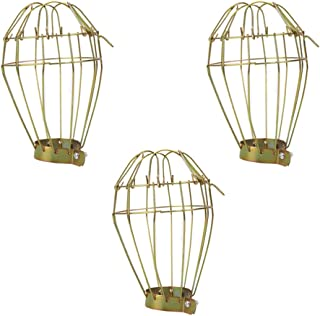 Generic 3Pcs Reptile Heater Guard Metal Cage Lampshade Bulb Guard Vintage Lamp Holders for Lizards Spider Scorpion Protect...