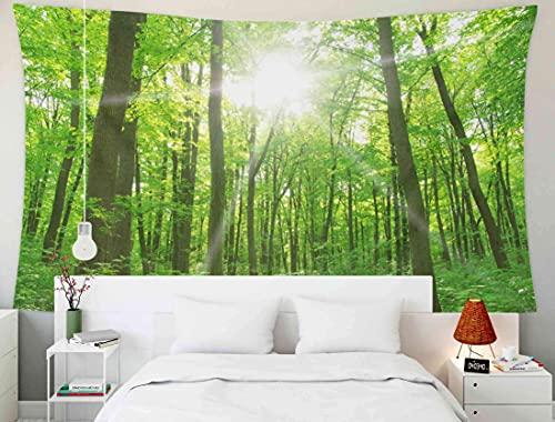 N\A Tapisserie tenture Murale, tapisseries Deacutecor Salon Chambre à Coucher pour la Maison à l'intérieur par imprimé pour Paysage forestier Le Matin