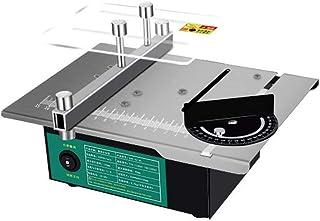 KKmoon Mini bordscirkelsåg vinkel justerbara elektriska bordsågar hushåll gör-det-själv skärning slipverktyg