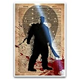 Horror art, Jason Voorhees horror movie artwork, classic horror icons