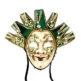 Máscara veneciana de bufón, estilo vintage para disfraz de Halloween, cosplay, para...