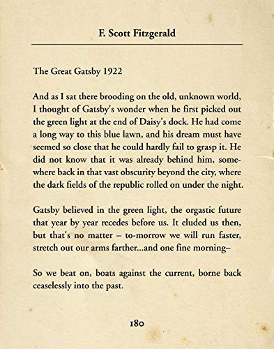 F. Scott Fitzgerald The Great Gatsby - Wall Decor Art Print - 11x14 unframed typography book page print - great gift for book and literary fans