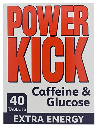 Powerkick Extra Energy Caffeine & Glucose Tablets x 40 - Pack of 6 (240 Tablets in Total)