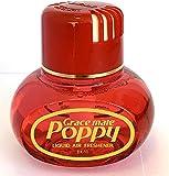 Original Poppy Duftspender (Kirsche, ohne Beleuchtung) ✓ Elegantes Flakon ✓ Für Auto & LKW ✓ Mit LED-Licht | Lufterfrischer, Autoduft auf flüssiger Basis als LKW-Zubehör | Raumerfrischer und Raum-Duft