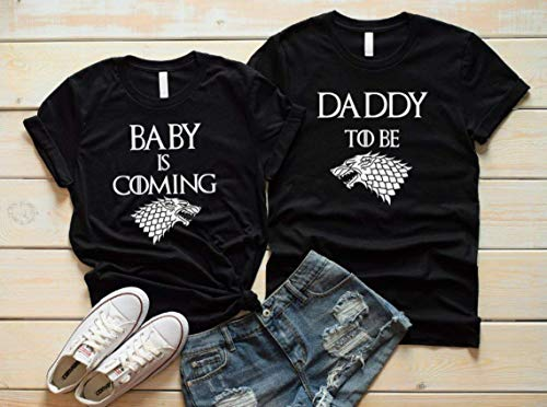 Baby Is Coming Shirts, Game Of Thrones Inspired Pregnancy Announcement Matching Unisex Shirts