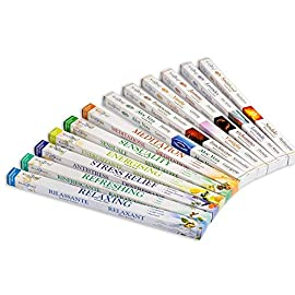 Stamford 37147 & 37148, Multi-Colour, 26.9 x 22 x 2.2 4 1 x moods and 1 x aromatherapy by Stamford, 96 incense sticks in total A quality item that carries Our 100% customer satisfaction Guarantee, or your money back Assorted fragrance. Premium Brand and quality sticks. Made in India. Burn time average 40 minutes per stick