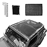 Micephon Jeep Wrangler JL JLU Sunshade Net for Jeep Wrangler JL JLU 4 Door (2018-2019)