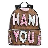 GULTMEE College-Rucksäcke für Damen, Mädchen, romantische süße Kekse, Buchstaben Sugar Candy auf einem rustikalen Holz-Tischbild, Casual Wandern Reisen Daypack Mehrfarbig...