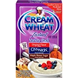 Cream of Wheat Instant Hot Cereal, Three Flavor Variety Pack, 10 Packets (Pack of 12)