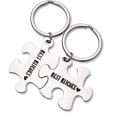 Best Friend Keyrings for 2 Best Friends Gift Personalised Friendship Jewellery Friends Set Friendship Jewelry Best Friend Keychain Set