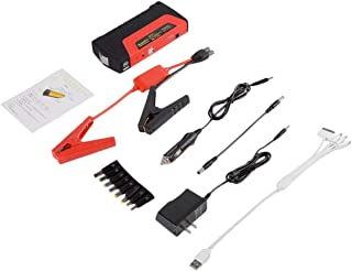 BTHDPP Car Jump Starter External Battery Charger With Tool Kit Case-jumper Cable,adaptors Large Capacity 12000mah With Multi USB Ideal Portable Power Source For Auto,Phone,Laptop