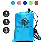 ScorchedEarth Pocket Blanket for Beach, Travel, Outdoor, Camping, Hiking, Picnic, Festival, Sports -...