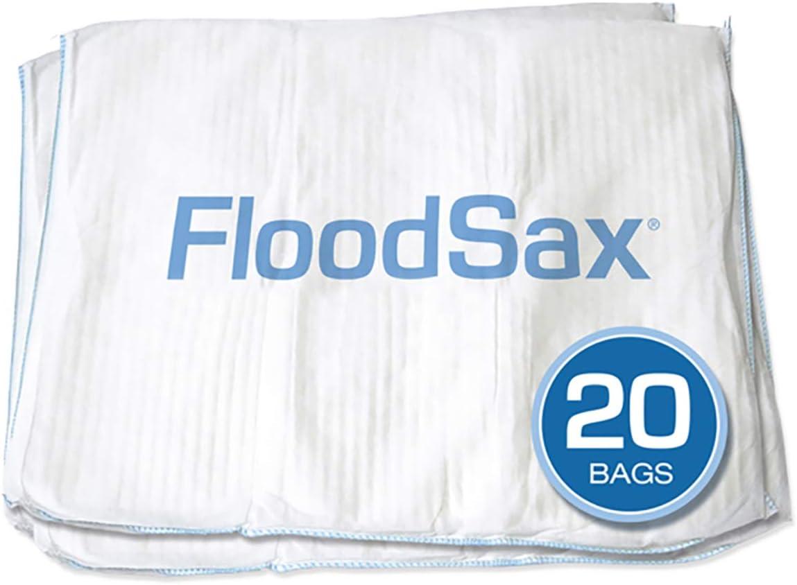 FloodSax Sandless Sandbag, Water Absorbent Flood Barrier, 19