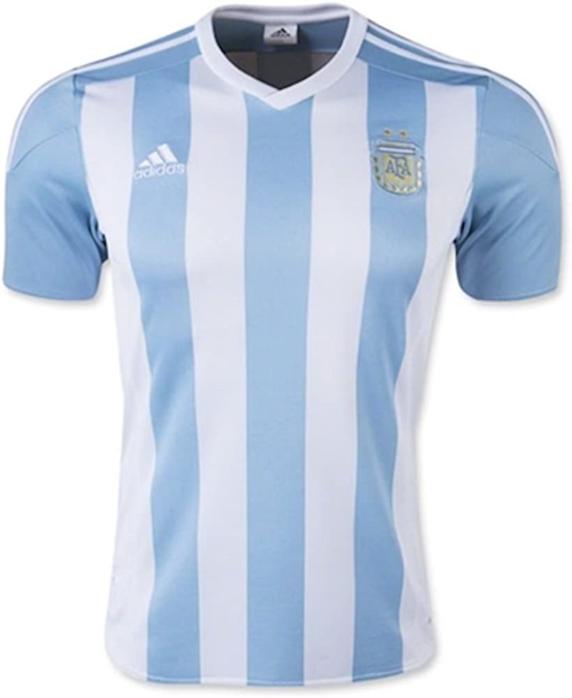 adidas Argentina Home Soccer Jersey, White/Sky