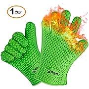 Bestbewertete hitzeresistente Silikon Grill-Handschuhe und Ofenhandschuhe – 1 Paar – Die originalen Twinzee Schutzhandschuhe - Hochwertig, Rutschfest, Sicher und Einfach Praktisch für Ihr BBQ