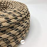 cable de tela de 3 hilos /Óxido marr/ón 3 x 0,75 mm2 Fabricado en Italia Cable de tela para l/ámpara 5 metros