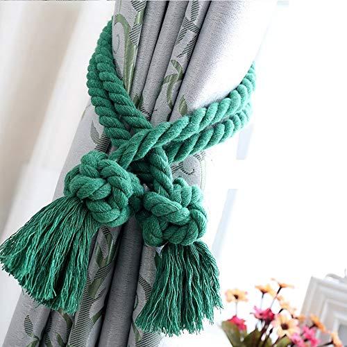 Pingrog creatieve vouwhouder met kwasten in Chinese stijl voor gordijnen uniek accessoire voor gordijnen handgemaakt katoenen touw blauw