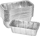 zyh (10 Paquetes) Bandeja Grande de Papel de Aluminio desechable con contenedor de Tapa de Papel para Hornear,Hornear,cocinar,almacenar Alimentos,etc.