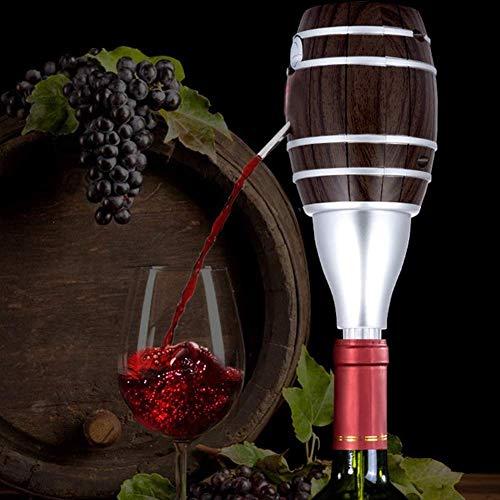 Aireador de vino eléctrico: bomba decantadora de vino y dispensador de vino y alcohol a pilas para bodas/cumpleaños/fiestas/Navidad