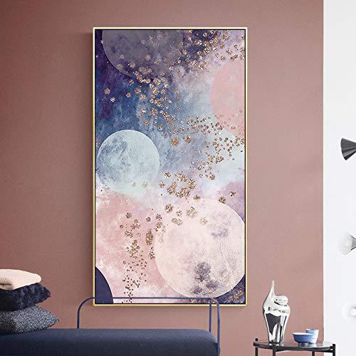 N / A Rahmenlose Malerei Abstrakte Farbmischung Marmor Stil Leinwand Ölgemälde Wohnzimmer Schlafzimmer Home Art WanddekorationZGQ7116 60X120cm