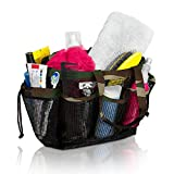 Simply Things Heavy Duty Mesh Shower Bag Caddy and Tote with 9 Storage Compartments and 2 Reinforced Handles, This Mesh Shower Bag is Quick Drying for Dorm, Gym, Camping, or Travel (camo)