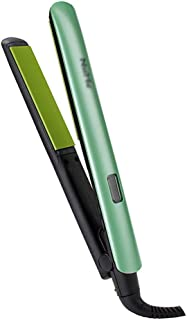 Hair Straightener,Straight Hair Splint Roll Straighteners Dual-Purpose Ceramic Hair Straightener LCD Display Hairdressing Tool Straight Curler,Green