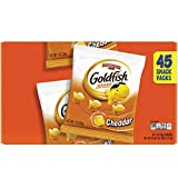 Pepperidge Farm 1051900 Goldfish Crackers, Cheddar, 1 oz Bag, 45/Carton